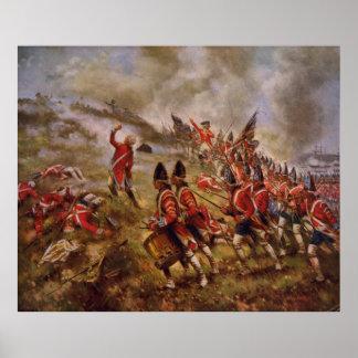 Batalla del Bunker Hill de Edward Percy Moran Póster