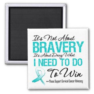 Batalla del cáncer de cuello del útero imán cuadrado