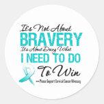 Batalla del cáncer de cuello del útero pegatina redonda