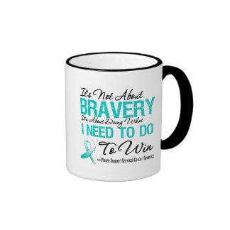 Batalla del cáncer de cuello del útero tazas de café