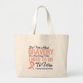 Batalla del cáncer endometrial bolsa tela grande