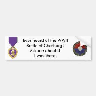 batalla del cherburg pegatina para auto