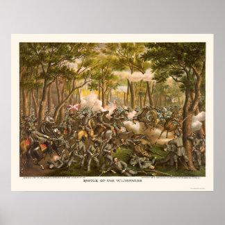 Batalla del desierto de Kurz y de Allison 1864 Posters