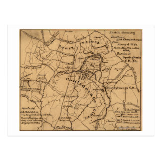 Batalla del desierto - guerra civil 2 panorámicos tarjeta postal