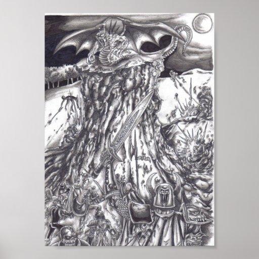 batalla del diablo de la guerra de los undead - mo poster