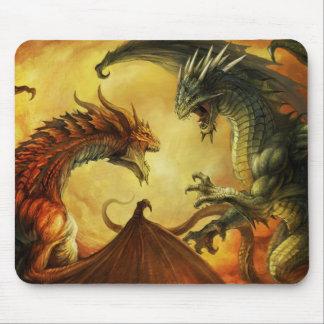 Batalla del dragón, cojín de ratón mouse pads