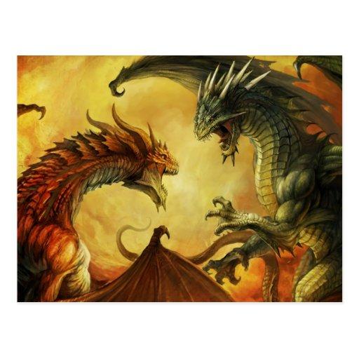 Batalla del dragón, postal
