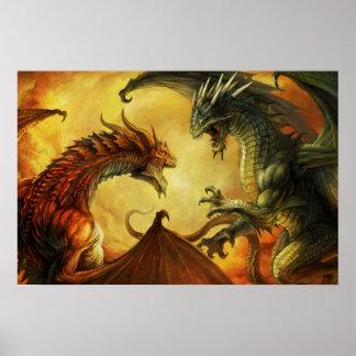 Batalla del dragón, poster grande póster