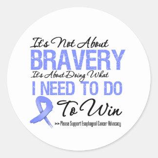 Batalla del esófago del cáncer etiquetas redondas