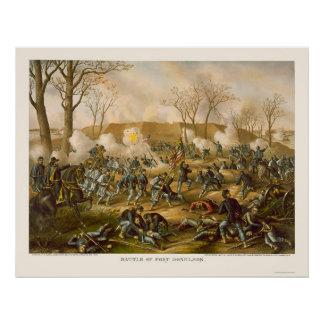 Batalla del fuerte Donelson de Kurz y de Allison 1 Posters