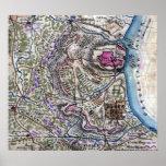 Batalla del fuerte Donelson - guerra civil panorám Posters