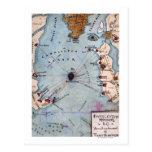Batalla del fuerte Sumter - guerra civil panorámic Postales