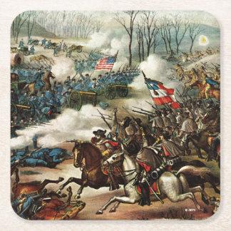 Batalla del guisante Ridge Posavasos De Papel Cuadrado