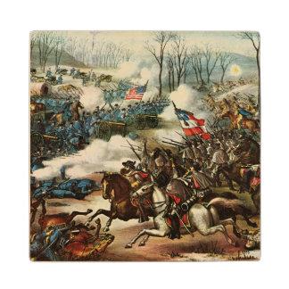 Batalla del guisante Ridge Posavasos Madera