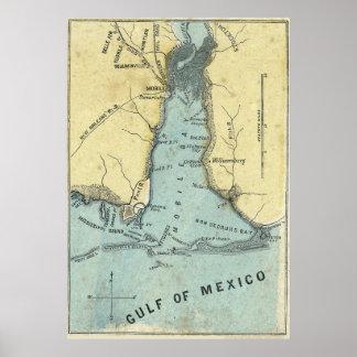 Batalla del mapa de la bahía móvil poster