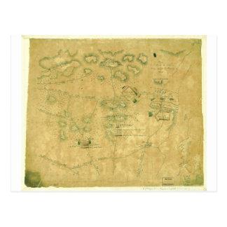 Batalla del mapa revolucionario de la guerra de la postal
