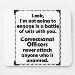 Batalla del oficial correccional de los ingenios alfombrilla de ratones
