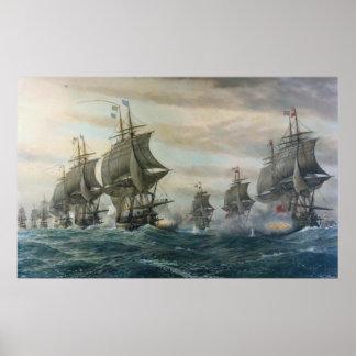 Batalla del poster de la lona de los cabos de Virg Póster