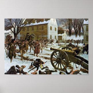 Batalla del poster de la lona de Trenton Póster