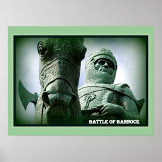 Batalla del poster del Bannock de la pared