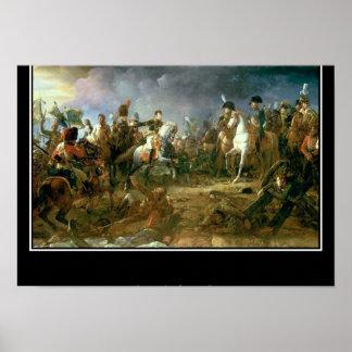 Batalla del poster del vintage de Austerlitz