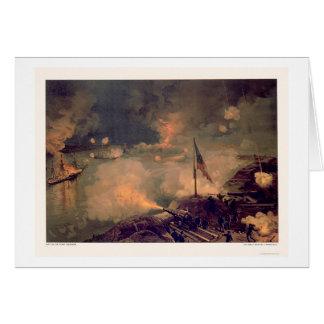 Batalla del puerto el Hudson por L. Prang & Tarjeta De Felicitación