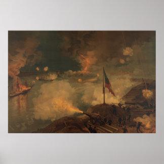 Batalla del puerto el Hudson Póster