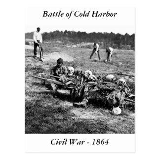 Batalla del puerto frío 1864 tarjeta postal