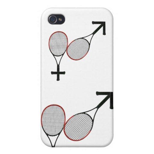 Batalla del tenis de los sexos iPhone 4 carcasas