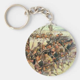 Batalla del tribunal de Guiliford Llavero Redondo Tipo Pin