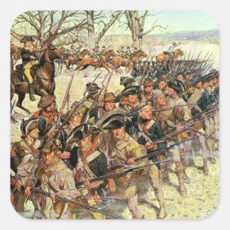 Batalla del tribunal de Guiliford Pegatina Cuadrada