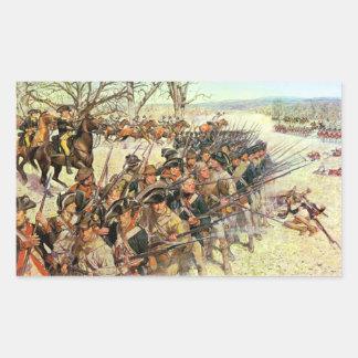 Batalla del tribunal de Guiliford Pegatina Rectangular