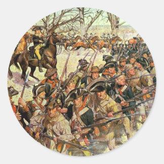 Batalla del tribunal de Guiliford Pegatina Redonda