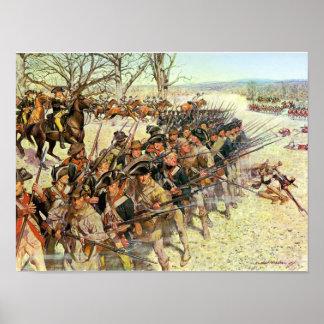 Batalla del tribunal de Guiliford Póster