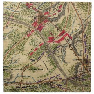 Batalla del vintage del mapa de Chantilly (1862) Servilleta De Papel