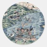 Batalla en el Nyoirin Pasillo por Katsukawa, Shunt Pegatina