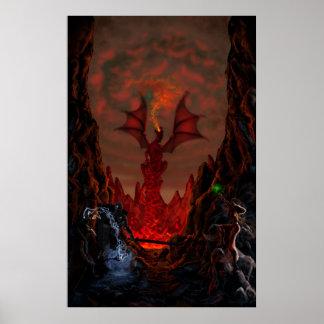 Batalla en el paso de la condenación del dragón póster