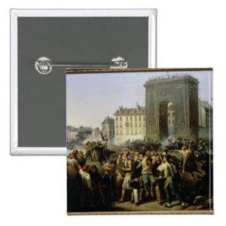 Batalla en el Porte Santo-Denis, el 28 de julio de Pin Cuadrado