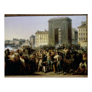 Batalla en el Porte Santo-Denis, el 28 de julio de Tarjeta Postal