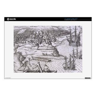 Batalla en Jamaica entre Cristóbal Colón (14 Skins Para 38,1cm Portátil