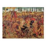 Batalla entre Darius y Alexander el grande Postal