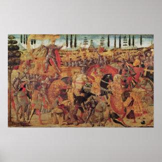 Batalla entre Darius y Alexander el grande Póster