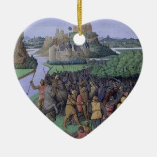 Batalla entre el Maccabees y el Bacchides Adorno De Cerámica En Forma De Corazón