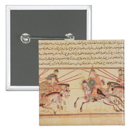 Batalla entre las tribus mongoles, siglo XIII Pin Cuadrado