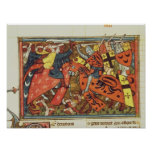 Batalla entre los cruzados y los musulmanes impresiones