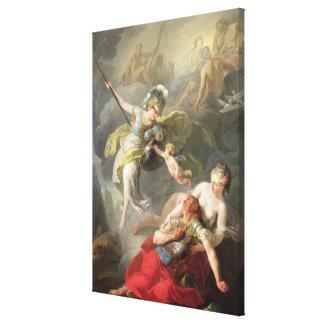 Batalla entre Minerva y Marte, 1771 Impresión En Lona