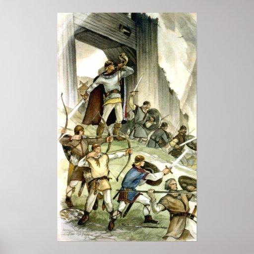 Batalla estonia de Viking - Watercolour Impresiones