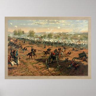 Batalla Gettysburg Hancock en Gettysbug Thulstrup Poster