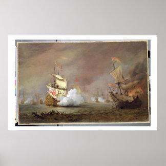 Batalla naval de las guerras Anglo-Holandesas, c.1 Poster
