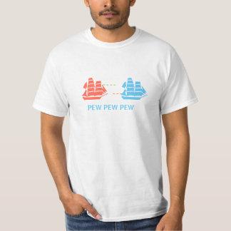 Batalla naval del pasado épico del futuro camisas